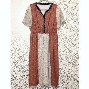 Roolee Color-Block Floral Dress